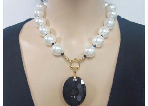 selección especial de venta de descuento Tener cuidado de Collar Exclusivo de Acero Inoxidable y Piedras Naturales para Dama