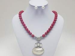 Exclusive Stainless Steel and Natural Stone Set for Women