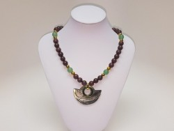 Exclusive Stainless Steel and Natural Stones Necklace for Women
