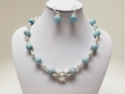 Exclusive 925 Sterling Silver and Natural Stone Set for Women